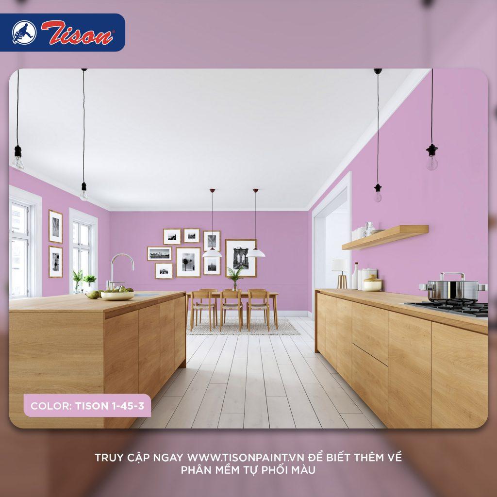 Sơn phòng bếp - chọn màu sơn dẫn đầu xu hướng