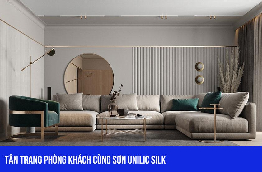 Tân trang lại phòng khách với bảng màu của Unilic Silk
