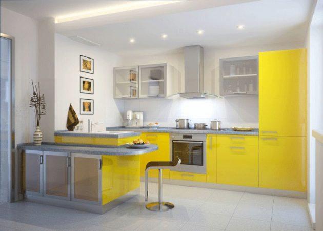 sơn nội thất màu vàng cho bếp