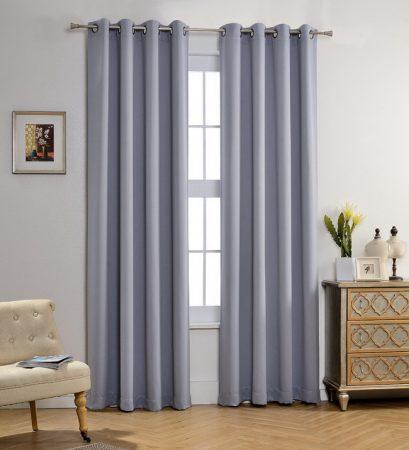 cách phối màu tường nhà và rèm cửa