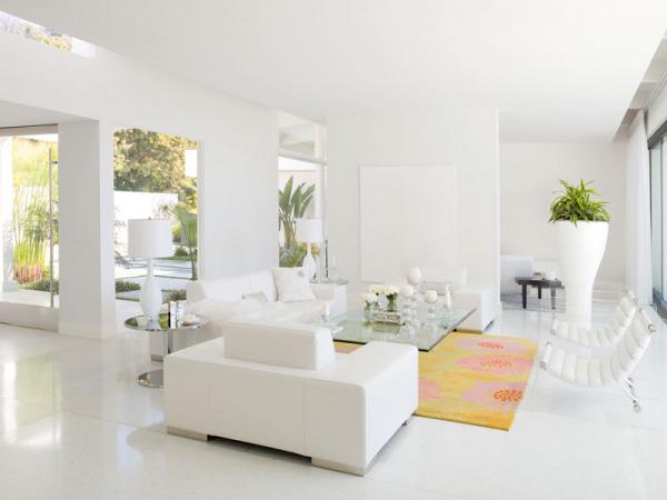sơn nhà màu trắng